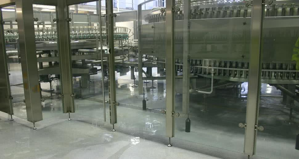 bottling hall resin flooring