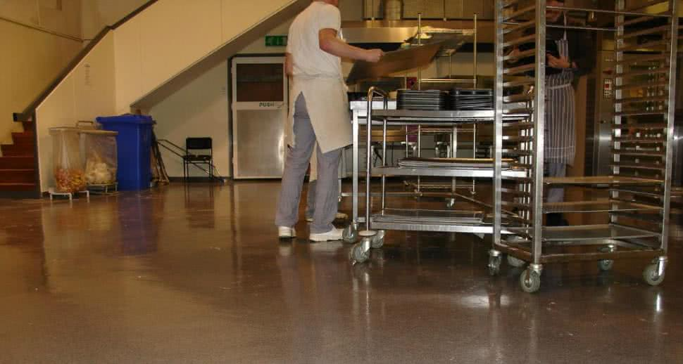 Anti slip bakery flooring