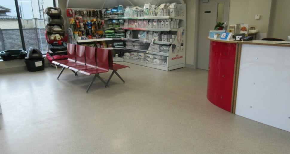 Anti skid veterinary flooring