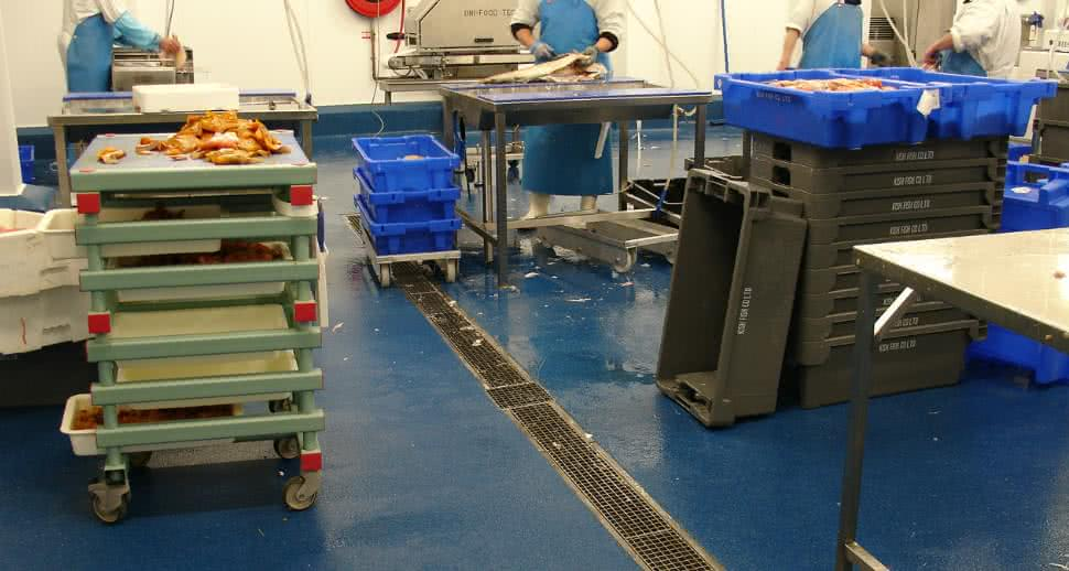 fish facility resin flooring