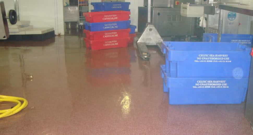 Fish facility hygienic floor