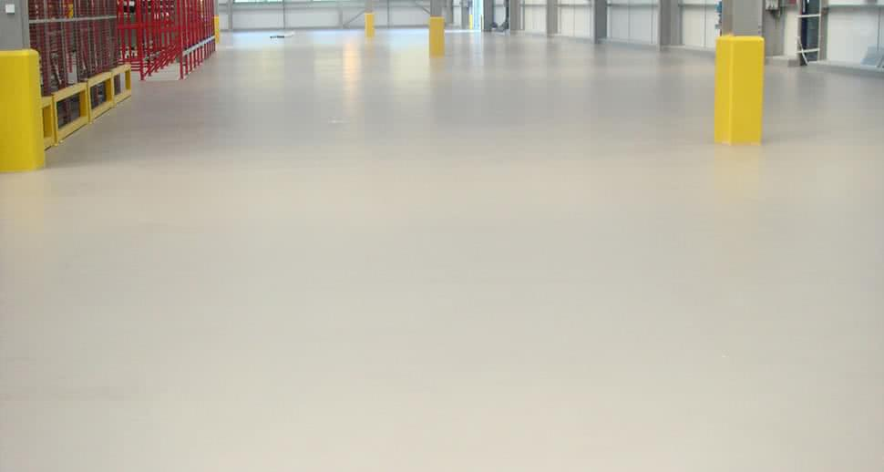 Non slip warehouse flooring