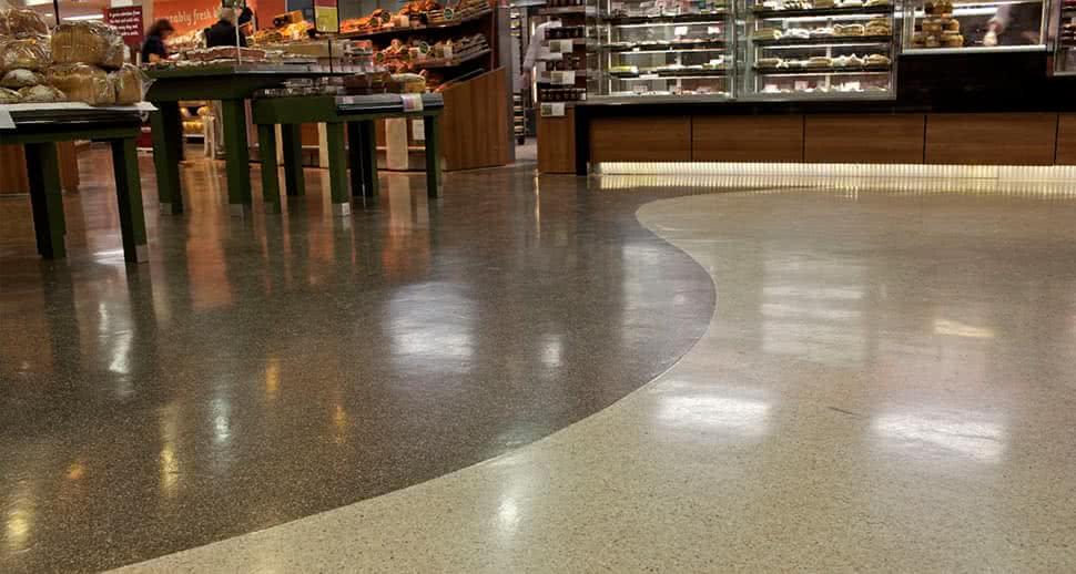 Reflective Supermarket Flooring