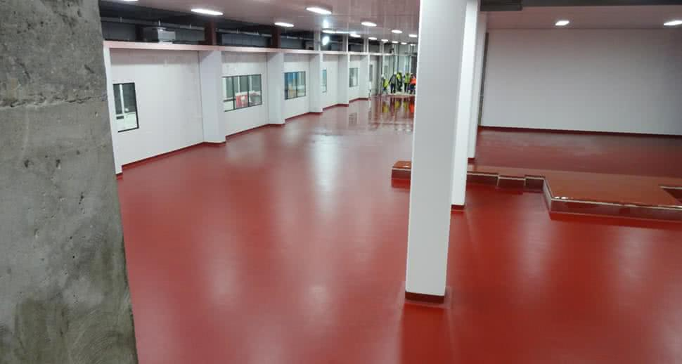 Highly durable dairy warehouse floor