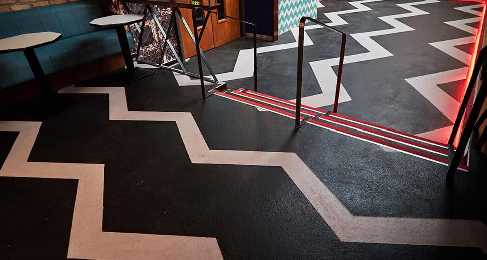 Patterned Commercial Floors