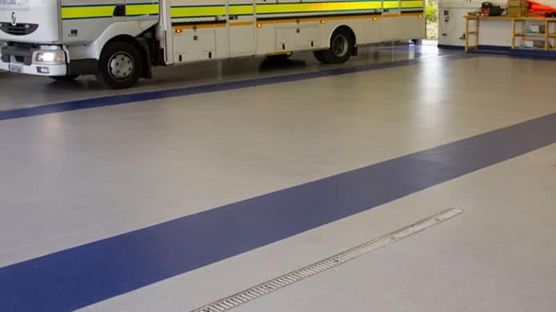 resin flooring, coastguard station