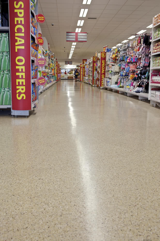 Non Slip Retail Flooring Solution