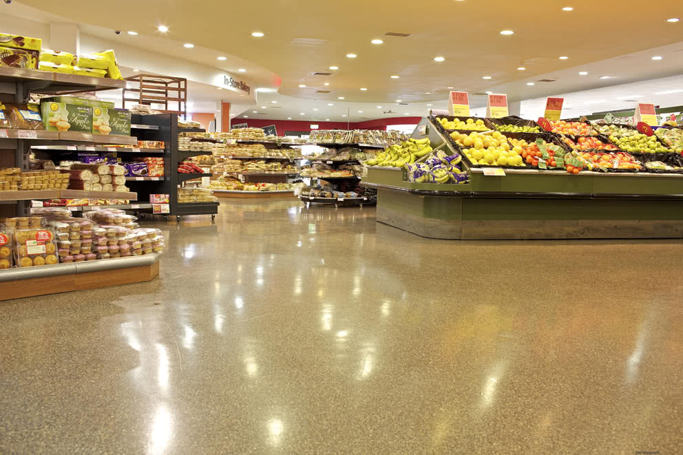 Reflective, Anti Skid Supermarket PMMA Flooring Solution