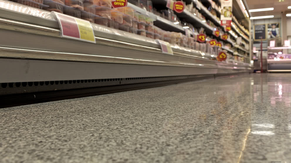 Non porous supermarket resin flooring