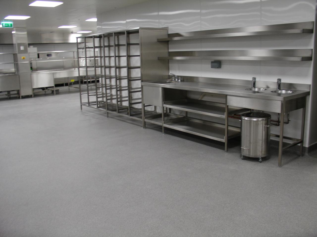 Durable Commercial Kitchen Floor
