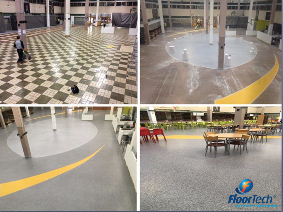 Before, During and After PMMA Resin Flooring Installation